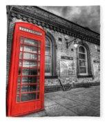 Red Phone Box Fleece Blanket