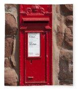 Red Postbox Fleece Blanket