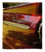 Red Ranchero And Round Taillight Fleece Blanket