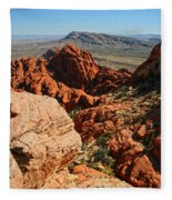 Red Rock Canyon At The Tank Fleece Blanket