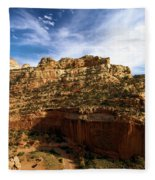 Red Rock Canyons Fleece Blanket