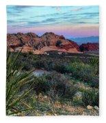 Red Rock Sunset II Fleece Blanket