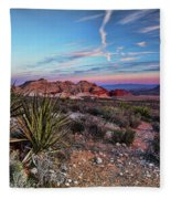 Red Rock Sunset Fleece Blanket