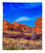Red Rocks Park Colorado Fleece Blanket