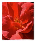 Red Rose Summer Fleece Blanket