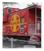 Red Sante Fe Caboose Train . 7d10325 Fleece Blanket