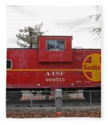 Red Sante Fe Caboose Train . 7d10328 Fleece Blanket