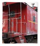 Red Sante Fe Caboose Train . 7d10330 Fleece Blanket