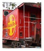 Red Sante Fe Caboose Train . 7d10332 Fleece Blanket