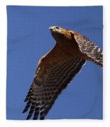 Red-shouldered Hawk - Apache Fleece Blanket