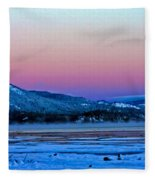 Red Sky At Dawn Fleece Blanket