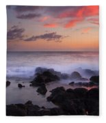 Red Sky Paradise Fleece Blanket