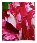 Red Speckled Rose Fleece Blanket