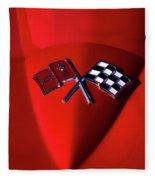 Red Stingray Badge Fleece Blanket