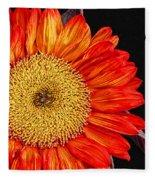 Red Sunflower II  Fleece Blanket