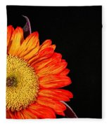 Red Sunflower IIi Fleece Blanket
