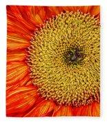 Red Sunflower Iv Fleece Blanket