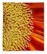 Red Sunflower Viiii Fleece Blanket