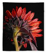 Red Sunflower X Fleece Blanket