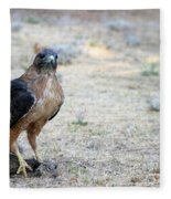 Red Tailed Hawk Catch Fleece Blanket
