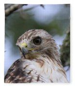 Red-tailed Hawk Has Superior Vision Fleece Blanket