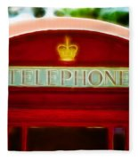 Red Telephone Box Fleece Blanket