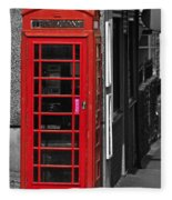 Red Telephone Box Fleece Blanket