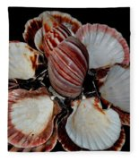 Red-toned Seashells Fleece Blanket