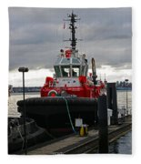 Red Tug Fleece Blanket