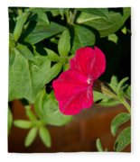 Red Velvet Petunia Fleece Blanket