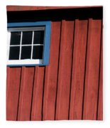 Red White And Blue Window Fleece Blanket