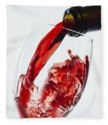 Red Wine Pour Fleece Blanket