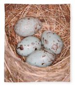 Red-winged Blackbird Nest Fleece Blanket