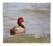 Redhead Duck Fleece Blanket