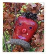 Redhead Scarecrow Fleece Blanket