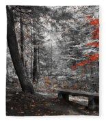 Reds In The Woods Fleece Blanket