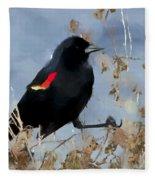 Redwing Blackbird Fleece Blanket