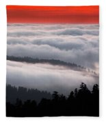 Redwood Clouds Fleece Blanket