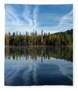 Reflecting Blue Fleece Blanket