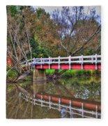 Reflecting Bridge Fleece Blanket