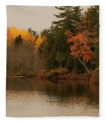Reflecting On Autumn Fleece Blanket