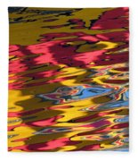 Reflection Abstraction Fleece Blanket