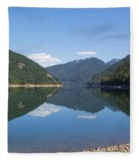 Reflection At The Reservoir Fleece Blanket