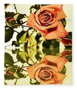 Reflection Of A Warm Rose Fleece Blanket