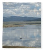 Reflection Of Clouds On Eagle Nest Lake Fleece Blanket