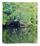 Reflection On The North Fork River Fleece Blanket