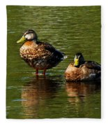 Reflection On The River Fleece Blanket