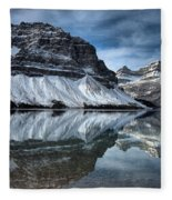 Reflections At Bow Lake Fleece Blanket