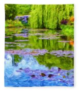Reflections At Giverny Fleece Blanket