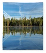 Reflections At The Summit Fleece Blanket